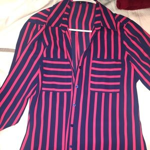 Pink & Navy Blue blouse